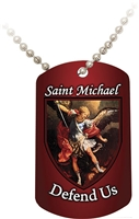 St. Michael (Red) Dog Tag