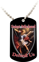 St. Michael (Black) Dog Tag