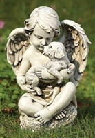 "12"" CHERUB WITH PUPPY, JOSEPH'S STUDIO"