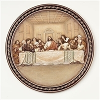 "10.5"" LAST SUPPER PLATE, JOSEPH STUDIO"
