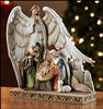 Nativity w/Angel Figurine, 8 inches H