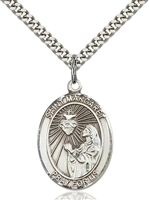 St. Margaret Mary Alacoque Medal<br/>7072 Oval, Sterling Silver