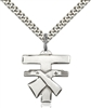 6072SS/24S <br/>Sterling Silver Franciscan Cross Pendant