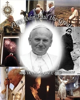 "Pope John Paul the Great Poster, 16"" X 20"""