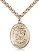 St. Michael the Archangel Medal<br/>7076 Oval, Gold Filled