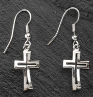 "1"" PAIR OF SILVER PLATED EARRINGS"