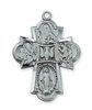 ANTIQUE SILVER FOUR-WAY MEDAL