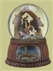 "5.5"" MUSICAL NATIVITY DOME, WITH WOOD LOOK BASE, O HOLY NIGHT"