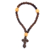 WOODEN PRAYER BEADS 33 BROWN & ROSE COLORS