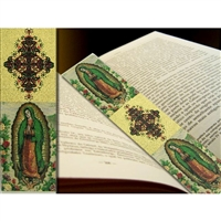 "Lady of Guadalupe Tapestry Icon Book Marker 9 1/8"" x 2"""