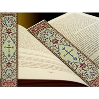 "IC XC Cross Tapestry Icon Book Marker, 9 1/8"" x 2"""