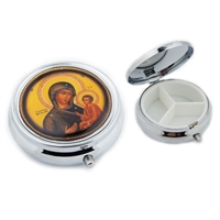 Madonna & Child Icon Pill Box, 2""