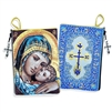 "Sweet Kissing Madonna & Child Icon Pouch, 5 3/8"" x 4"""