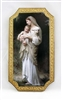 Innocence by Bouguereau Florentine Plaque, 5x9