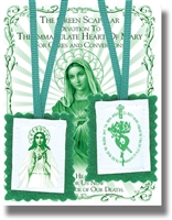 Green Scapular with Instruction Pamphlet