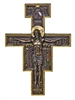 San Damian Crucifix, Cold-Cast Bronze, 10""