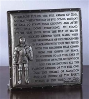 4.75 in Armor of God Desk Plaque