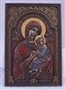 "Our Lady of Perpetual Help Plaque, hand-painted cold-cast bronze, 6"" X 9"""
