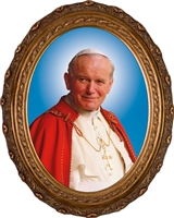 "Official Portrait John Paul II Oval Canvas, 8"" X 10"""