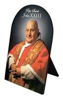 Pope St. John XXIII Arched Desk Plaque
