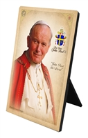 Commemorative Pope St. John Paul II Desk Plaque