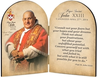 Commemorative John XXIII Quote Arched Diptych