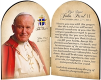 Commemorative John Paul II Quote Arched Diptych