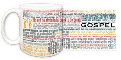 John Paul II Quotes 15 oz Mug