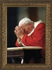 "John Paul II Kneeling Framed Image, 8"" X 12"""
