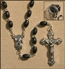 Black Deluxe Wood Rosary, 7mm