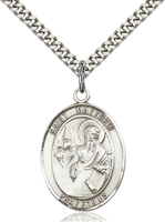 St. Matthew the Apostle Medal<br/>7074 Oval, Sterling Silver