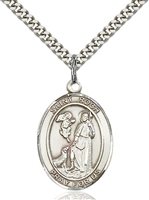 St. Roch Medal<br/>7310 Oval, Sterling Silver