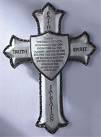 "Armor of God Wall Cross, 8.25"", Ephes. 6:16-17"