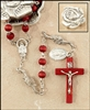Rose Petal Rosary in Metal Rose Shaped Box