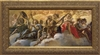 "Concert of Angels by Gaulli Framed Image, Ornate Gold Frame, 6.5"" X 14"""