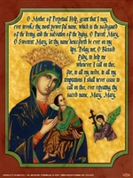 "Our Lady of Perpetual Help Poster, 12"" X 16"", Flat in Env."