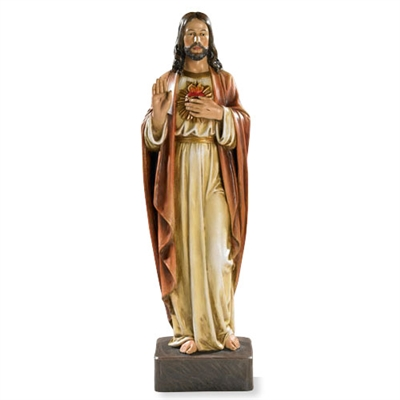 (116) Sacred Heart of Jesus Statue, 22.75 in