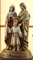 "10.5"" HOLY FAMILY FIGURINE ON BASE"