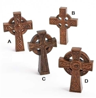 "4"" IRISH TABLETOP CROSSES, 4 STYLES"