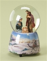 Musical Holy Family Waterglobe, Tune: Silent Night