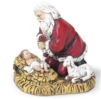 Kneeling Santa Ornament, 2.5 in.