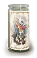 "St. Michael 2 Day Slow Burning Offering Candle, 5"" tall"