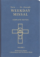 St. Joseph Weekday Missal, Vol. II, Pentecost to Advent, Blue