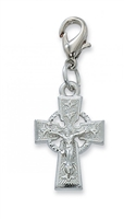 CELTIC CRUCIFIX CLIPABLE CHARM