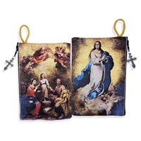The Immaculate Conception & Holy Family Rosary Icon Pouch