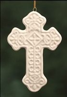 "Cross Ornament, 4"" Porcelain"