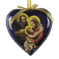 Adoring Family Heart Decoupage Ornament