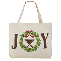 Joy Christmas Tote Bag, Canvas