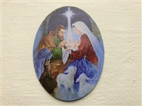 "3"" Unto Us A Child is Born Christmas Magnet"