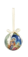 "Decoupage Christmas Ornament, 2"" Dia."